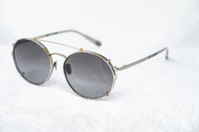 Kris Van Assche Sunglasses Unisex Titanium Oval Burnt Silver Clip-On and Graduated Grey Lenses - KVA70C2SUN - Watches & Crystals