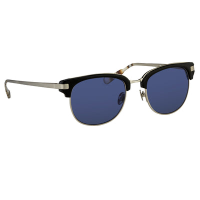 Kris Van Assche Sunglasses with D-Frame Black Burnt Silver and Blue Lenses Category 3 - KVA76C1SUN - Watches & Crystals