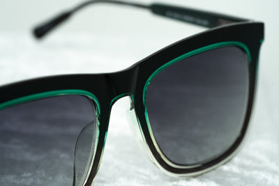 Kris Van Assche Sunglasses with D-Frame Green Gunmetal and Grey Graduated Lenses - KVA80C3SUN - Watches & Crystals