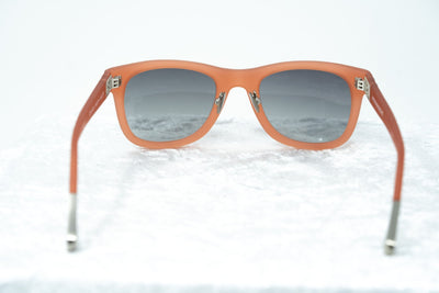 Kris Van Assche Sunglasses with D-frame Rubberised Orange and Grey Lenses - KVA47C4SUN - Watches & Crystals