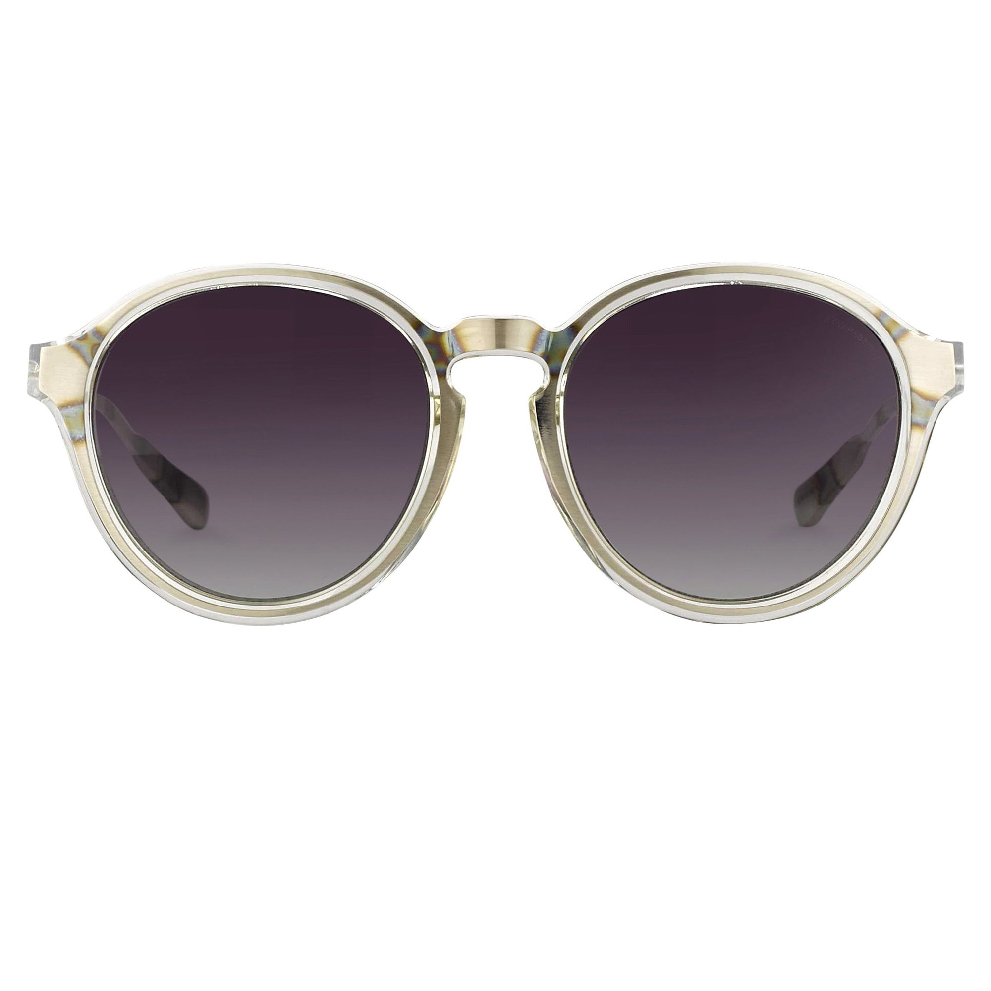 Kris Van Assche Sunglasses with Oval Clear Silver and Green Graduated Lenses - KVA79C4SUN - Watches & Crystals