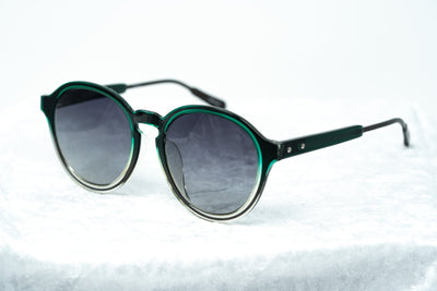 Kris Van Assche Sunglasses with Oval Green Clear Gunmetal and Grey Graduated Lenses - KVA79C3SUN - Watches & Crystals