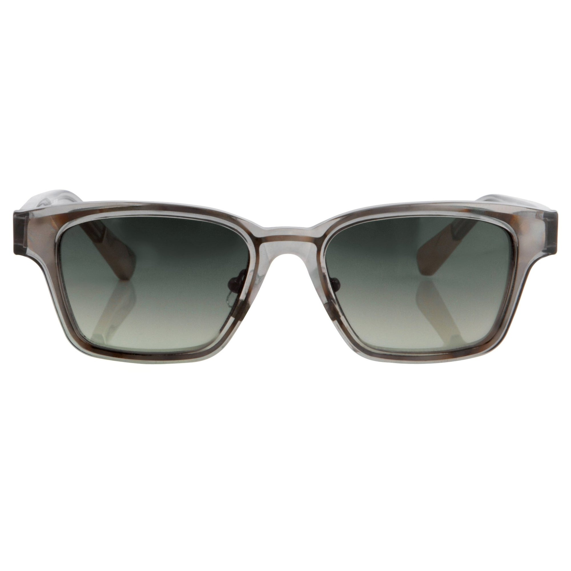 Kris Van Assche Sunglasses with Rectangular Translucent Smoke Metal and Grey Graduated Lenses Category 3 - KVA18C8SUN - Watches & Crystals
