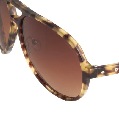 Kris Van Assche Unisex Sunglasses Brown Tortoise Shell with Grey Graduated Lenses Category 2 - KVA21C1SUN - Watches & Crystals