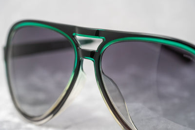 Kris Van Assche Unisex Sunglasses Clear Green and Brown Grey Graduated Lenses Category 2 - KVA78C3SUN - Watches & Crystals