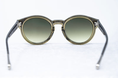 Kris Van Assche Unisex Sunglasses with Oval Translucent Smoke and Green Graduated Lenses - KVA7C5SUN - Watches & Crystals