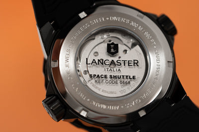 Lancaster Italy Space Shuttle Black PVD - Watches & Crystals