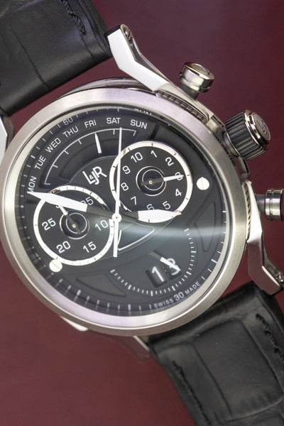 L&Jr Chronograph Day and Date Black - Watches & Crystals