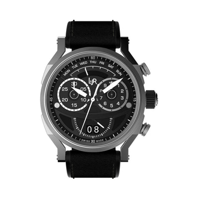 L&Jr Chronograph Day and Date Black Nylon - Watches & Crystals