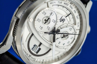 L&Jr Chronograph Day and Date Silver - Watches & Crystals