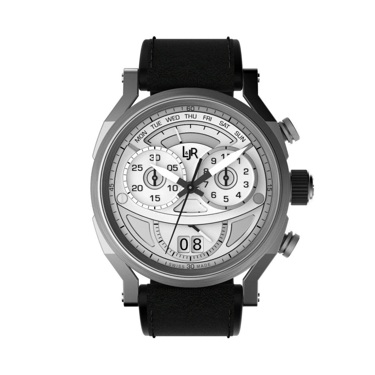 L&Jr Chronograph Day and Date Silver