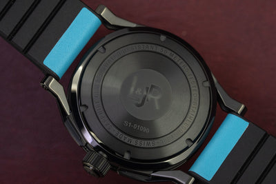 L&Jr Day and Date Black PVD Blue - Watches & Crystals