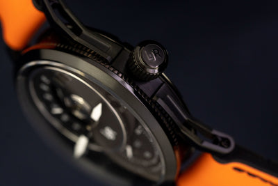 L&Jr Day and Date Black PVD Orange - Watches & Crystals