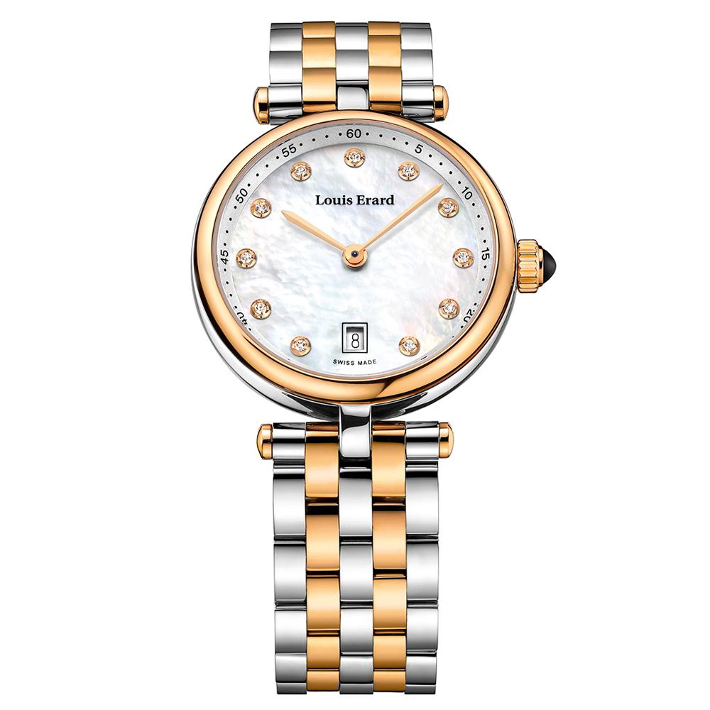 Louis Erard Diamond Romance Collection Date 30MM - Watches & Crystals