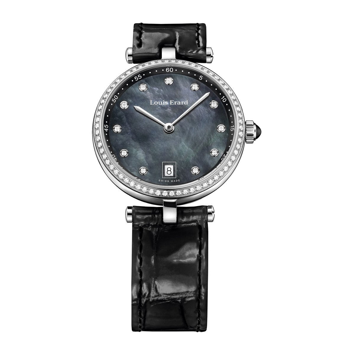 Louis Erard Romance Diamond Date Steel - Watches & Crystals