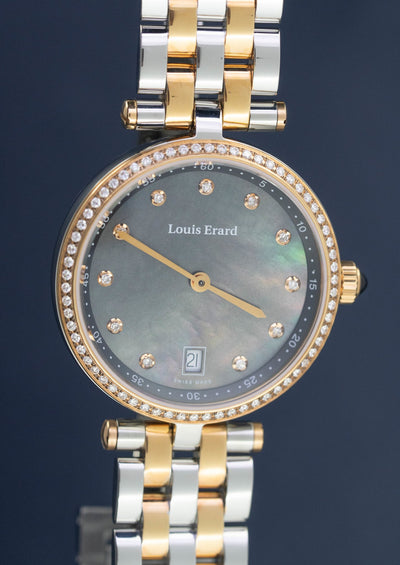 Louis Erard Romance Diamonds Date Two Tone - Watches & Crystals