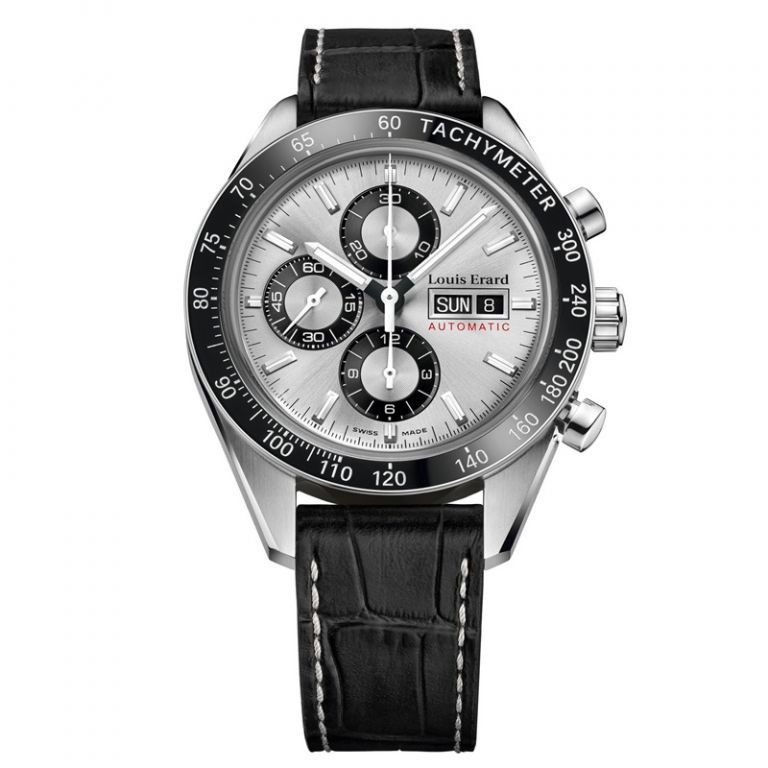 Louis Erard Sportive Chronograph Silver - Watches & Crystals