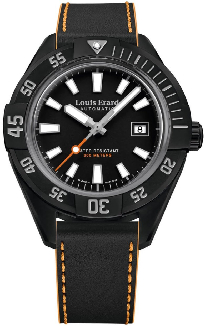Louis Erard Sportive Diver Date Black - Watches & Crystals