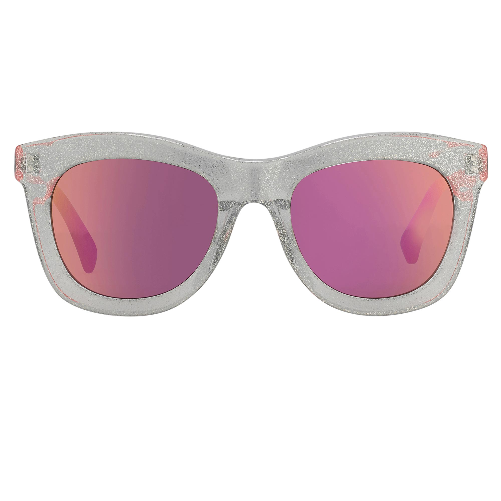 Markus Lupfer Sunglasses D-Frame Blue Glitter Neon Pink Lenses Category 3 Dark Tint ML5C6SUN - Watches & Crystals