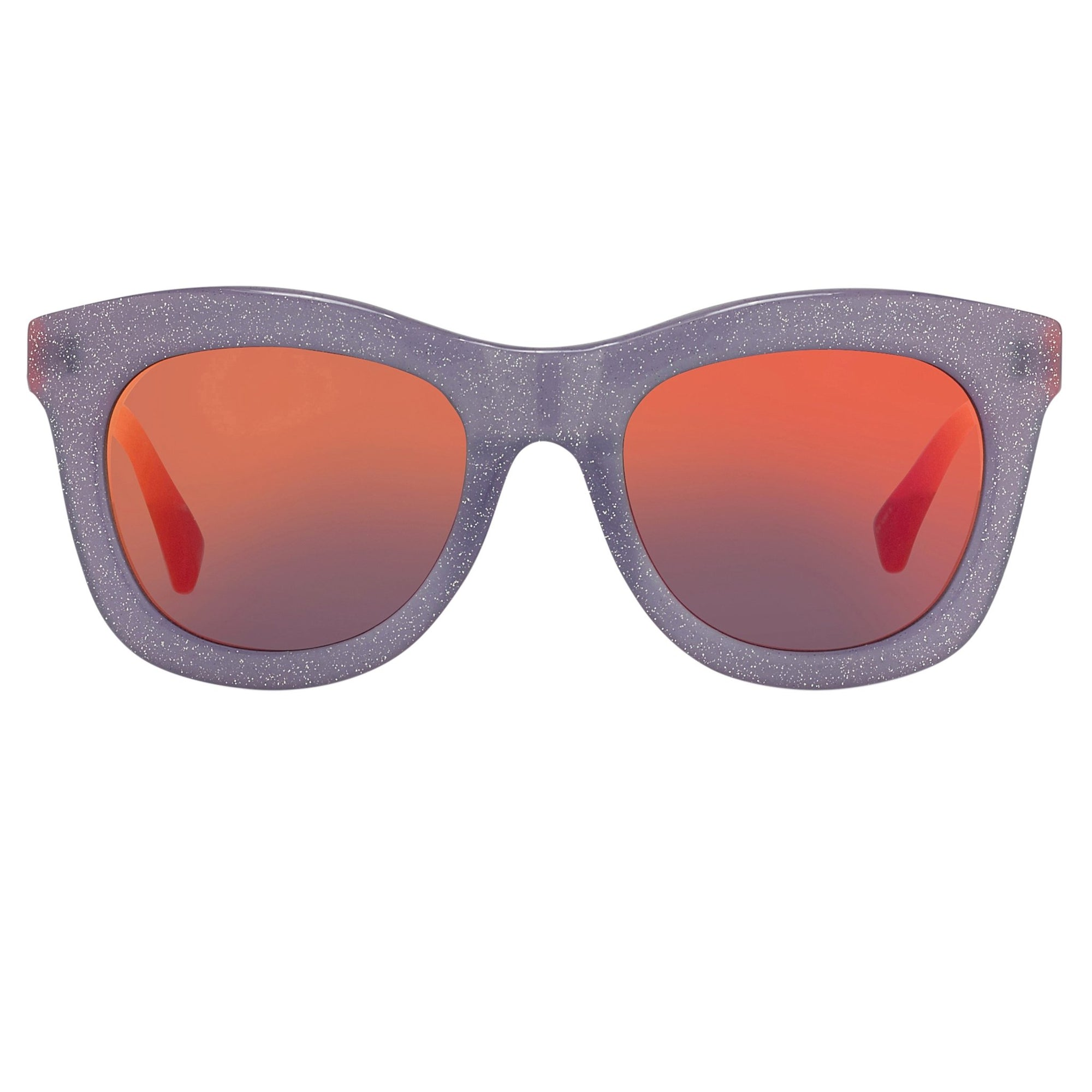 Markus Lupfer Sunglasses D-Frame Lilac Glitter Neon Orange Lenses Category 3 Dark Tint ML5C5SUN - Watches & Crystals
