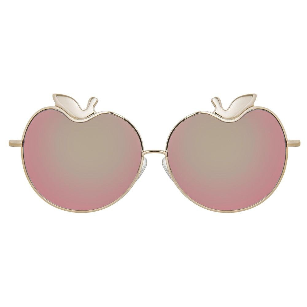 Markus Lupfer Sunglasses Special Apples Peach Mirror Lenses Category 3 Dark Tint ML12C6SUN - Watches & Crystals