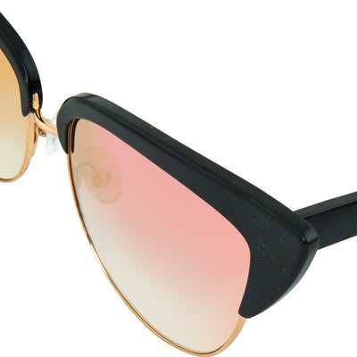 Matthew Williamson Sunglasses Cat Eye Black Aluminium with Peach Lenses MW180C4SUN - Watches & Crystals