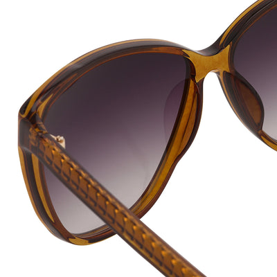 Matthew Williamson Sunglasses Cat Eye Caramel with Grey Lenses MW50C5SUN - Watches & Crystals