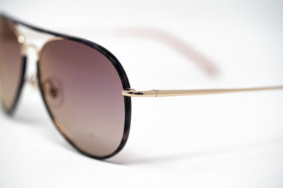 Matthew Williamson Sunglasses Lilac Tortoise Shell with Mauve Lenses MW154C5SUN - Watches & Crystals