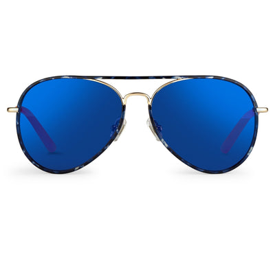Matthew Williamson Sunglasses Tortoise Shell with Blue Lenses MW154C3SUN - Watches & Crystals
