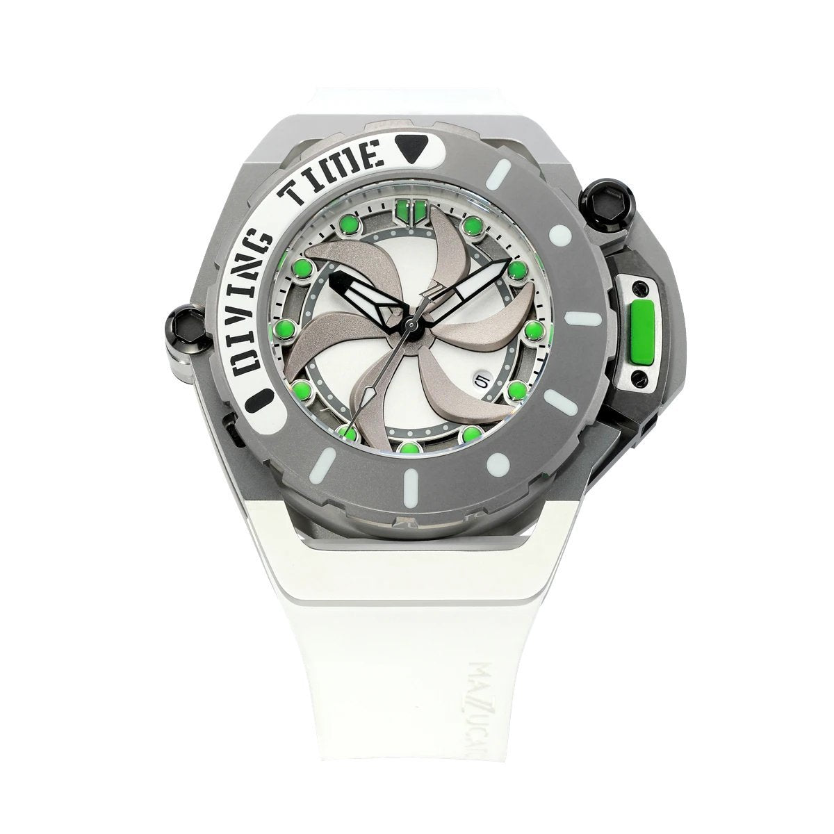Mazzucato RIM Scuba White Green - Watches & Crystals