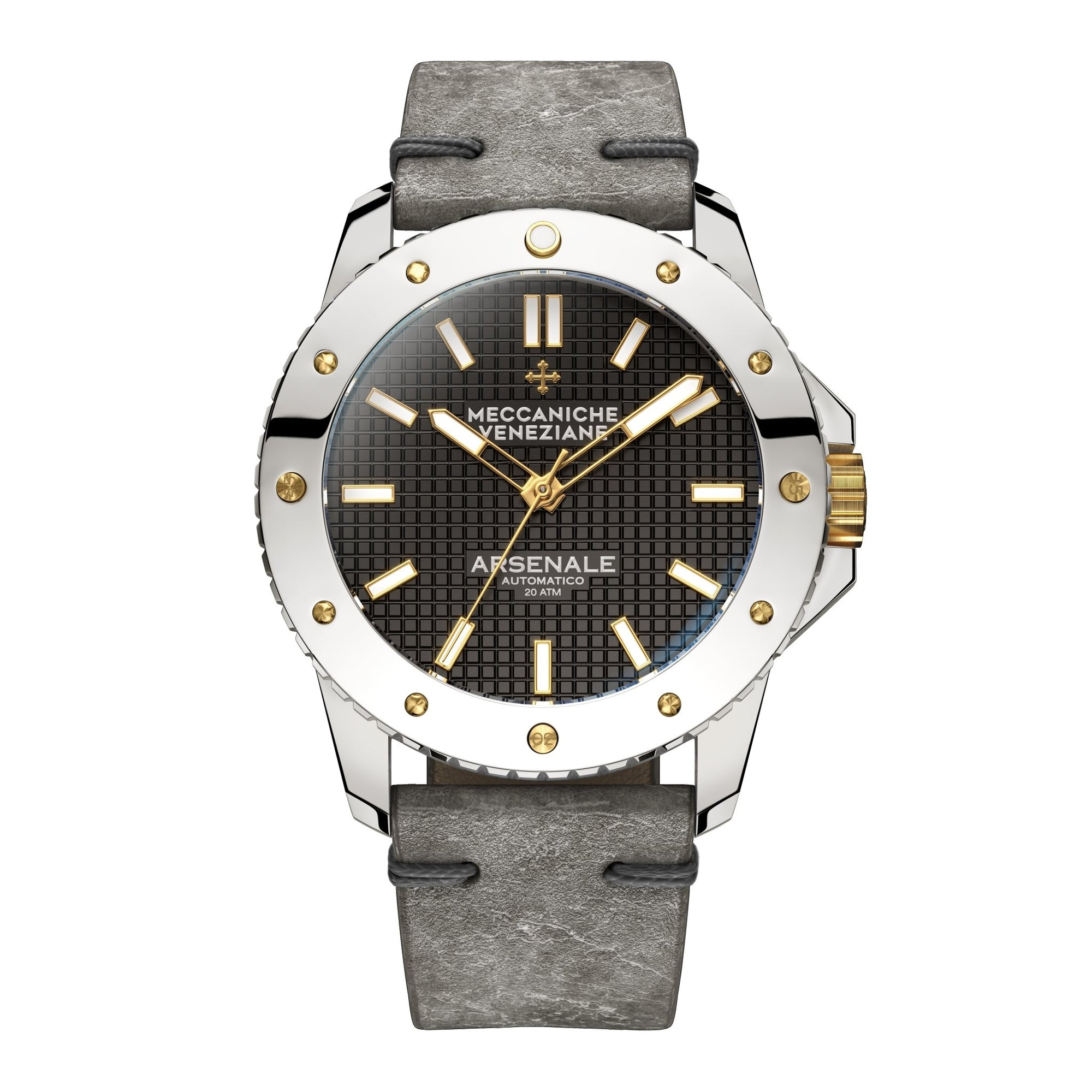 Meccaniche Veneziane Arsenale 4.0 Diver Chromed Gold - Watches & Crystals