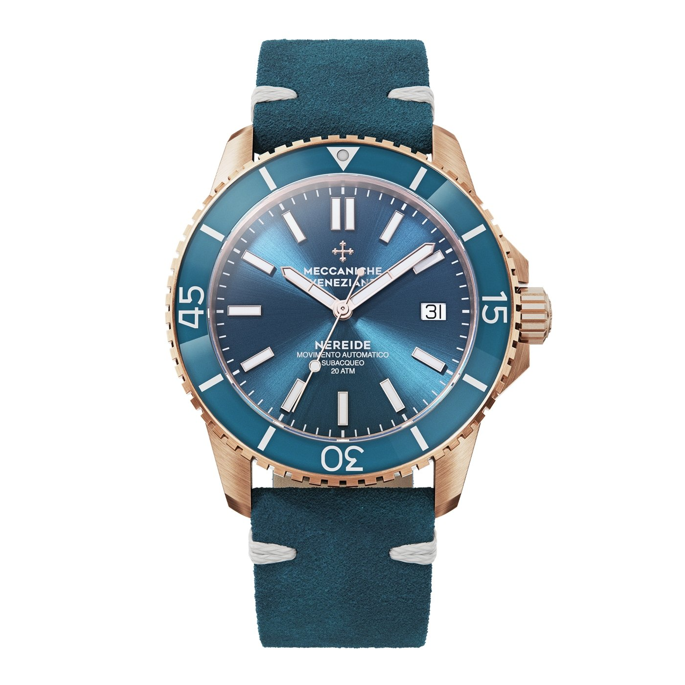 Meccaniche Veneziane Nereide 4.0 Diver Rose Gold PVD - Watches & Crystals