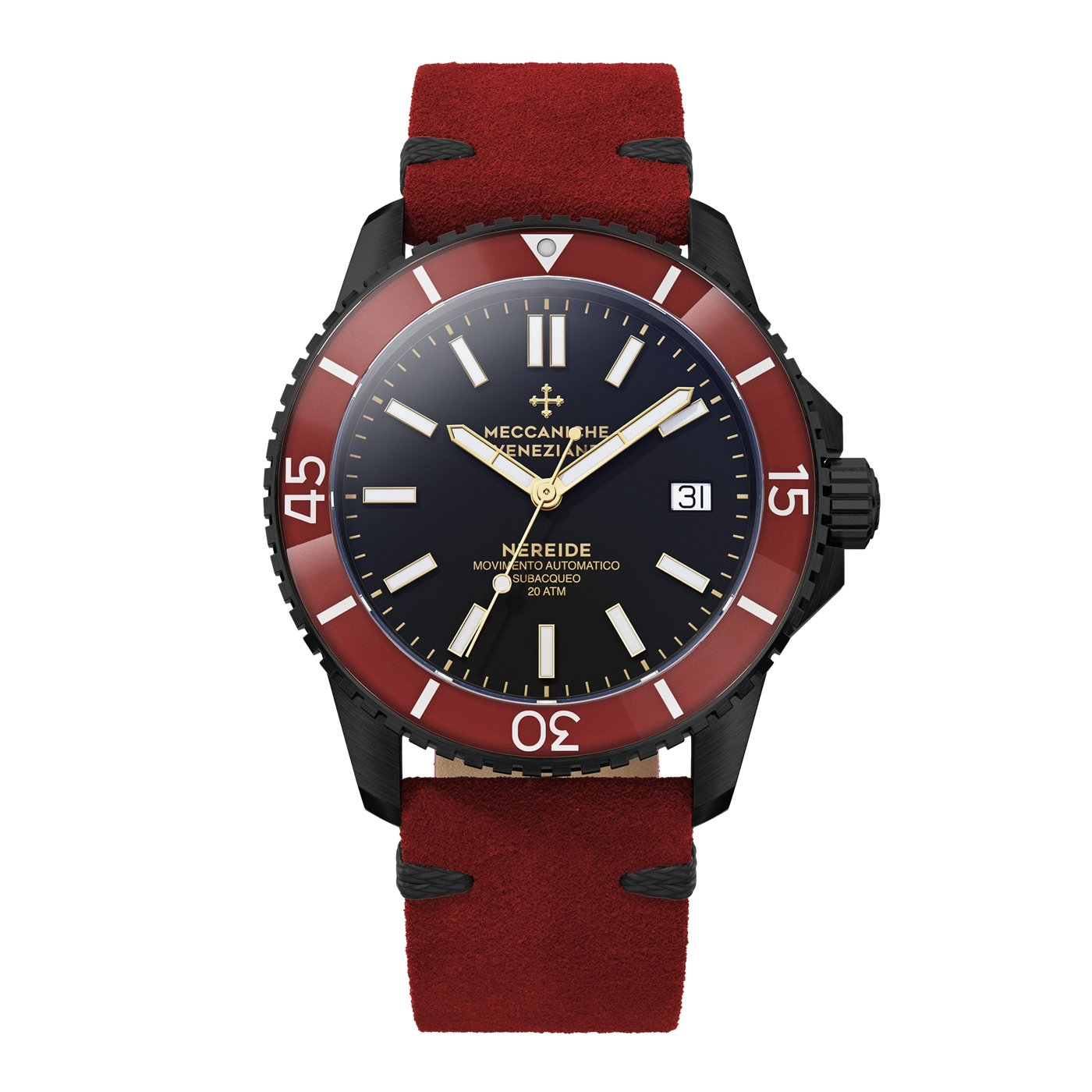 Meccaniche Veneziane Nereide 4.0 Watch Diver Black PVD - Watches & Crystals