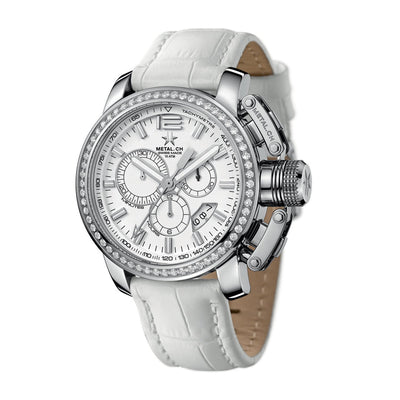 Metal.CH Chronograph 44MM Gem Set Date - Watches & Crystals