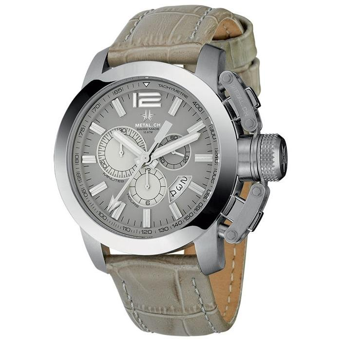 Metal.CH Chronograph 47MM Date Grey - Watches & Crystals