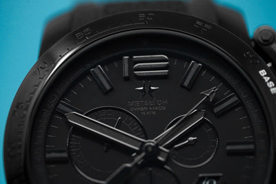 Metal.CH Chronosport Chronograph 47MM Date Black - Watches & Crystals