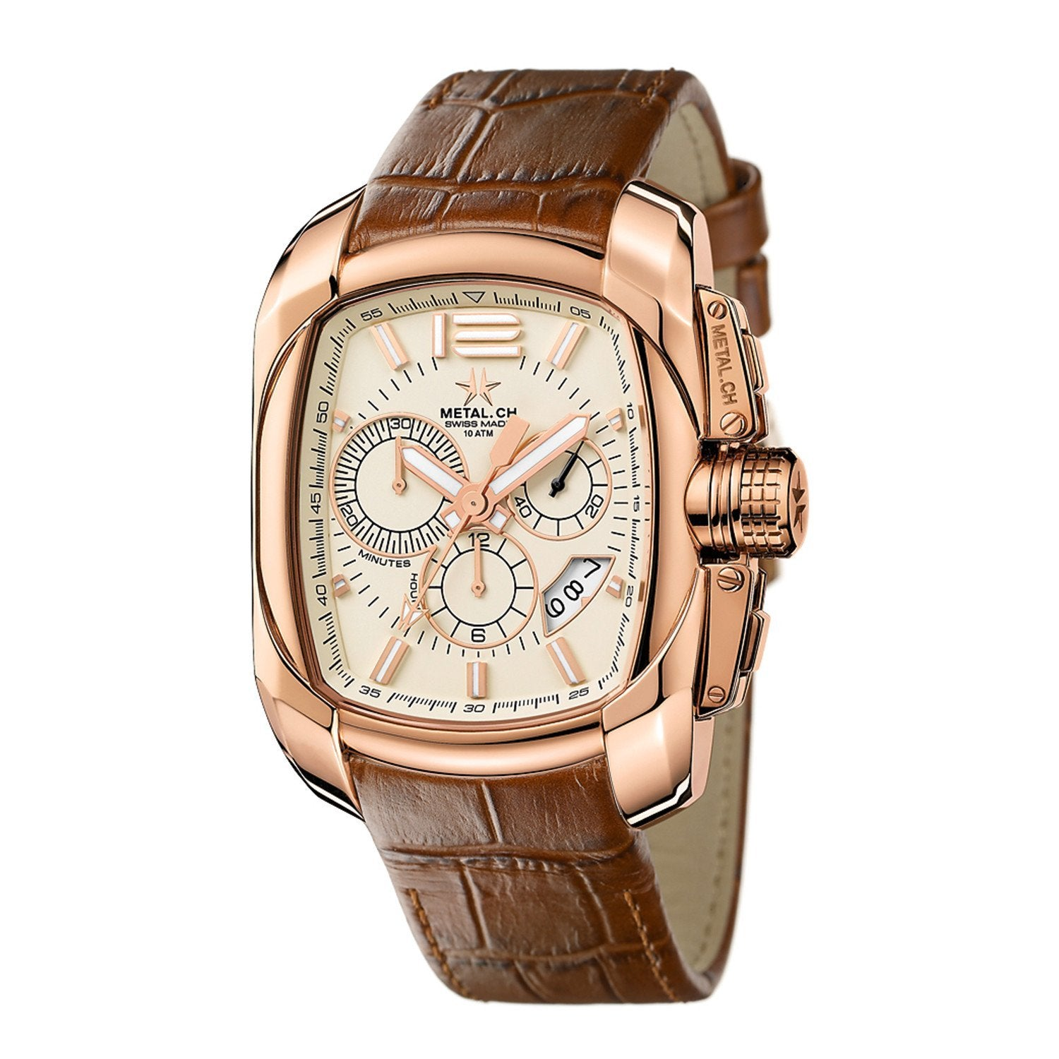 Metal.CH Club Chronograph Date Beige - Watches & Crystals