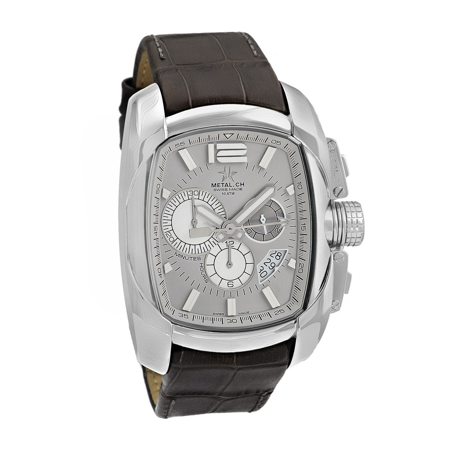 Metal.CH Club Chronograph Date Grey Steel - Watches & Crystals
