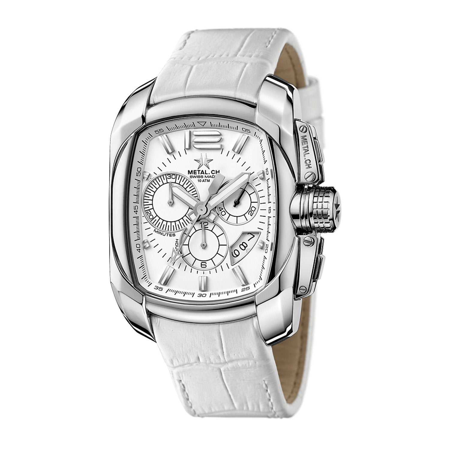 Metal.CH Club Chronograph Date White Steel - Watches & Crystals