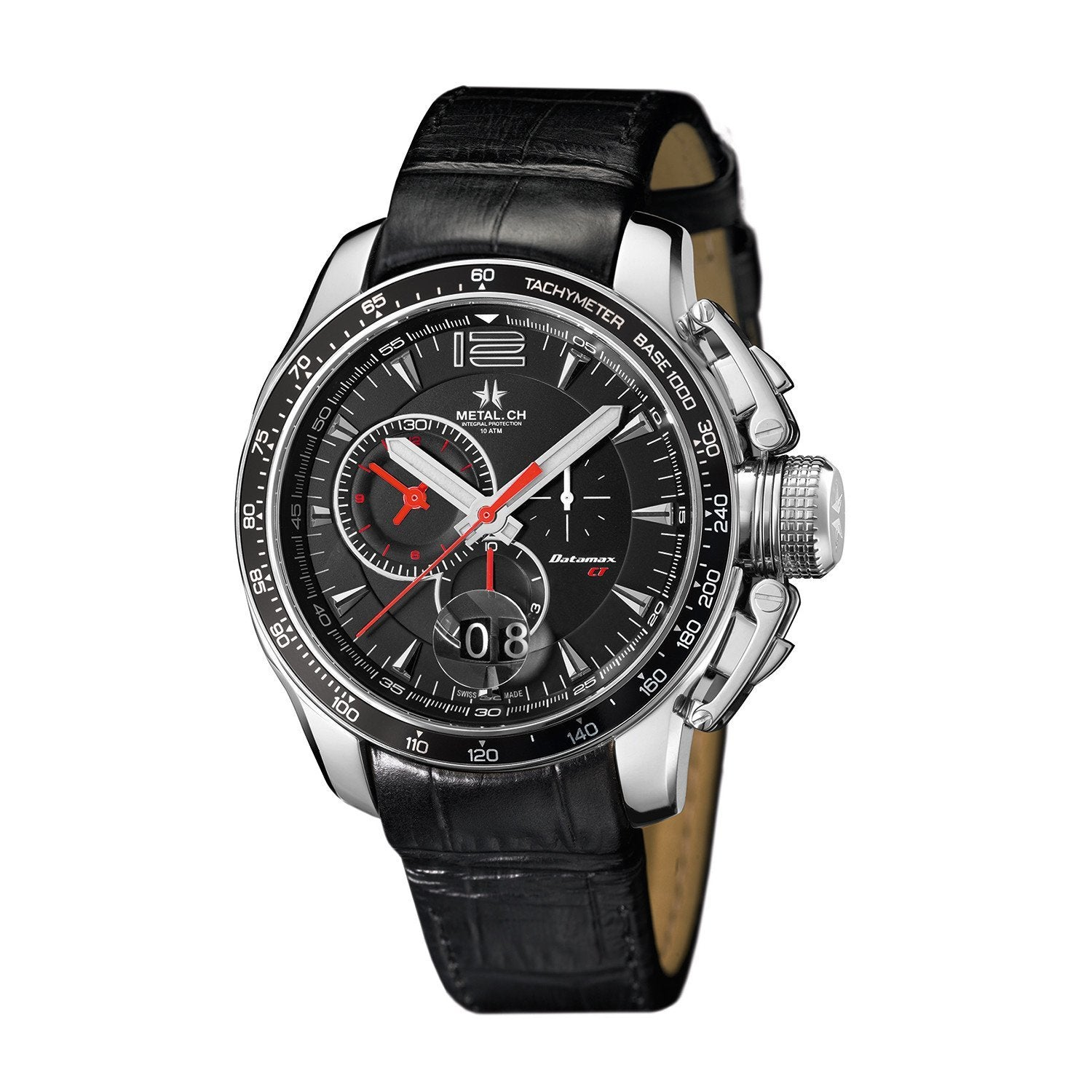 Metal.CH Datamax CT Chronograph Date Black - Watches & Crystals