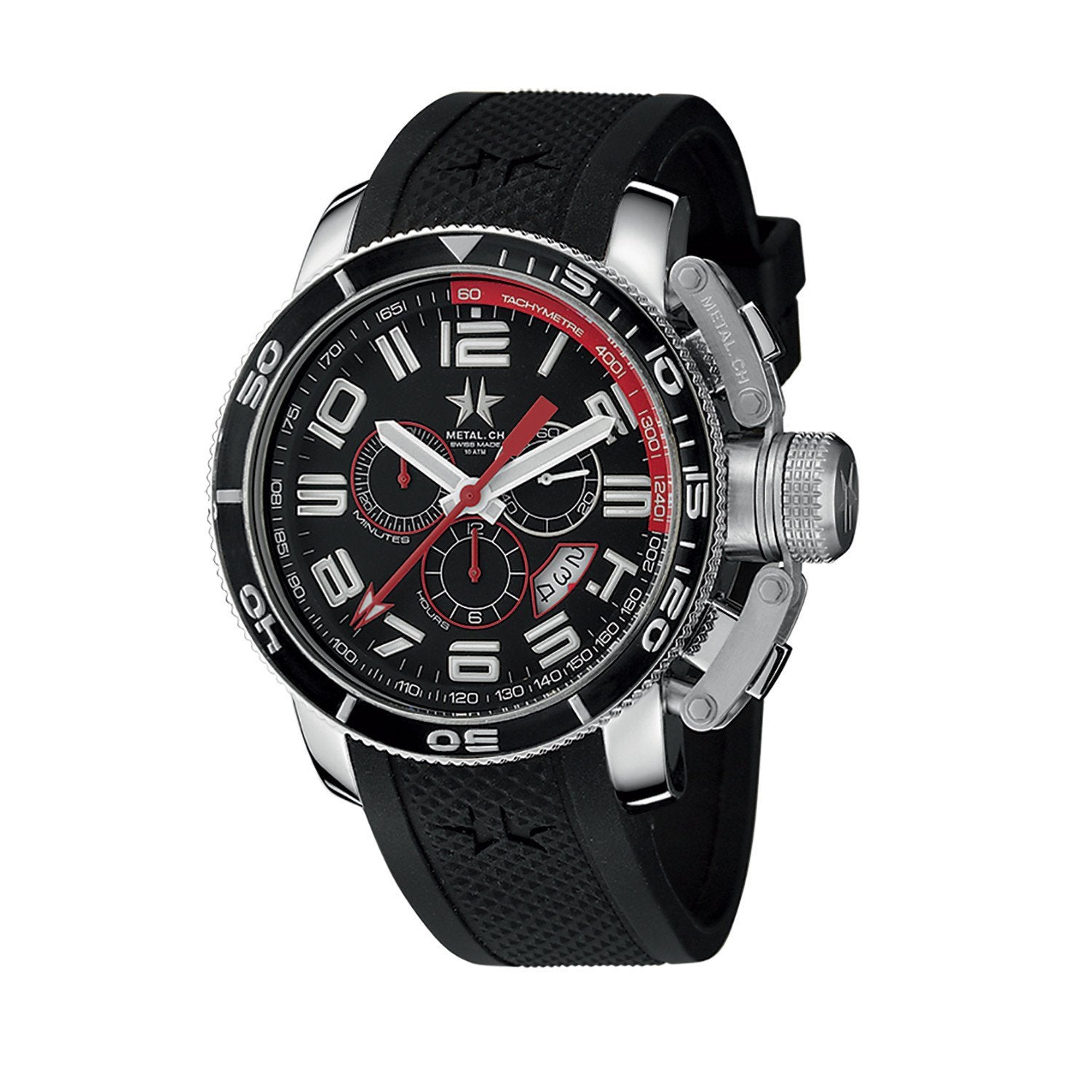 Metal.CH Diver Chronograph 44MM Date Black - Watches & Crystals