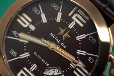 Metal.CH Initial 47MM Date Rose Gold PVD - Watches & Crystals