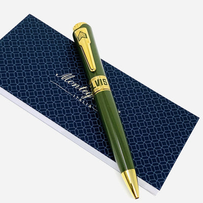 Montegrappa Pen Icons Elvis Presley Ballpoint Pen Green ISICEBYG - Watches & Crystals