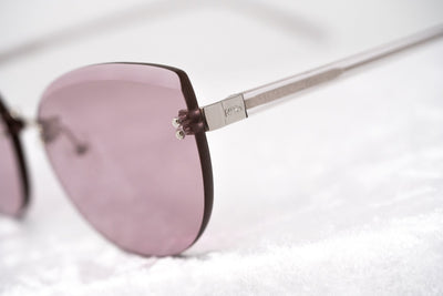 NO 21 Sunglasses Women's Cat Eye Silver and Clear with CAT1 Lilac Lenses - N21S15C6SUN - Watches & Crystals