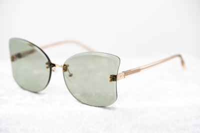 NO 21 Sunglasses Women's Oversized Clear and Light Gold with CAT1 Green Lenses - N21S13C3SUN - Watches & Crystals