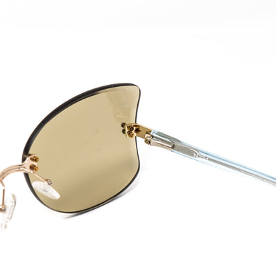 NO 21 Sunglasses Women's Oversized Clear Blue and Light Gold with CAT2 Tobacco Lenses - N21S13C4SUN - Watches & Crystals