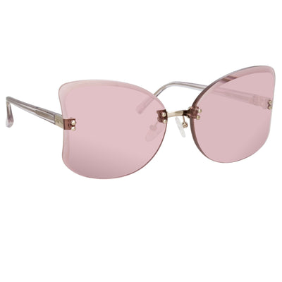 NO 21 Sunglasses Women's Oversized Silver with CAT1 Lilac Lenses - N21S13C6SUN - Watches & Crystals