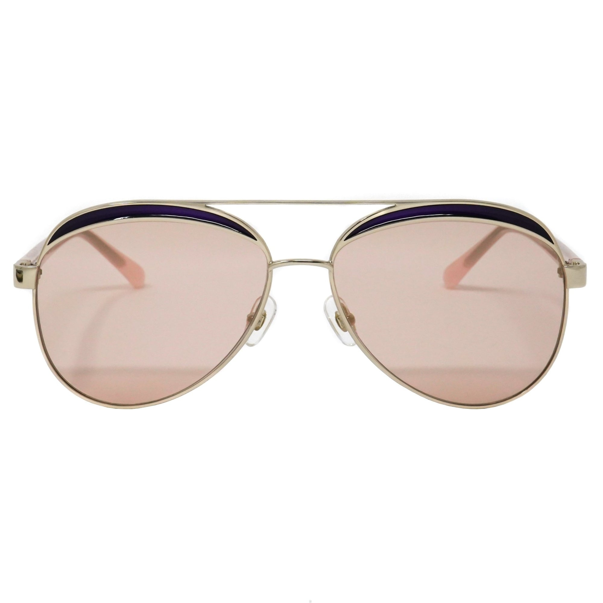 NO 21 Women's Sunglasses Rose Gold and Peach