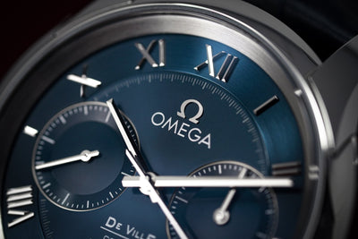OMEGA De Ville Co-Axial Chronograph Blue - Watches & Crystals
