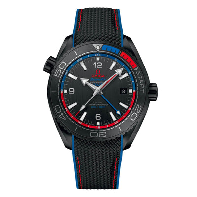 "OMEGA Seamaster Planet Ocean 600M ""ETNZ"" Deep Black - Watches & Crystals"